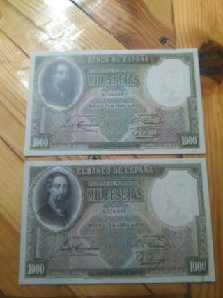 1000 pts correlativo 1931 FACSIMIL
