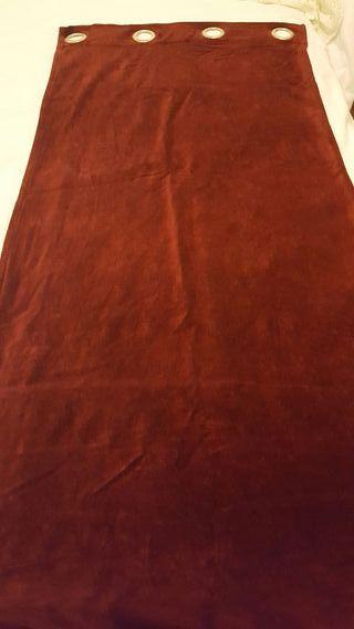 Cortinas terciopelo color burdeos
