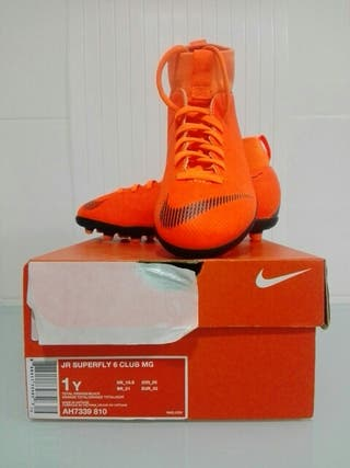 BOTAS DE FUTBOL NIKE JR SUPERFLY 6 CLUB MG (NUEVO)