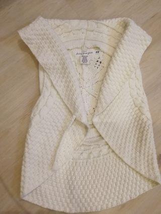 Lote chaleco lana niña 8-10 y camiseta