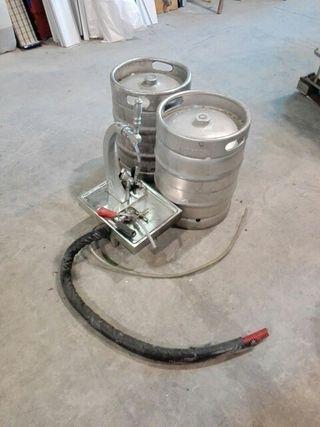 lote grifo de cerveza serpentín y barriles