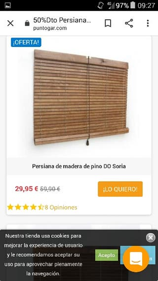 persiana estor de madera