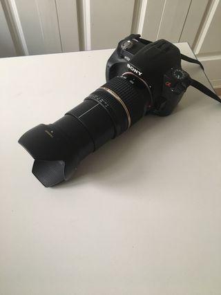 Cámara de Fotos Sony alpha 230 más objetivo 18-200