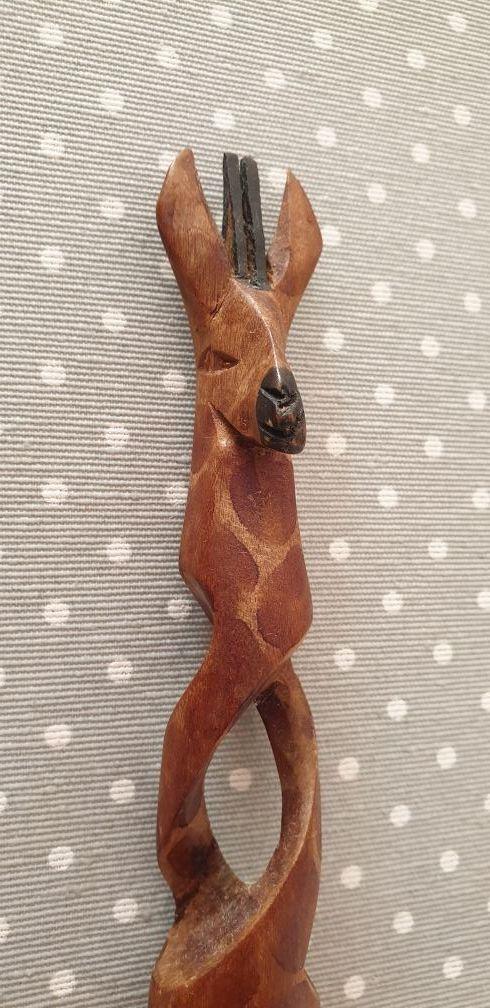 Cubiertos ensalada a estrenar artesanales : jirafa