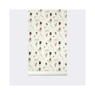 Papel de pared Pintado Kite Wallpaper Blanco