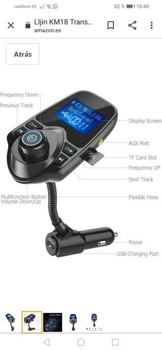KM18 Transmisor FM Bluetooth Mp3