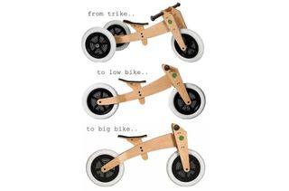Bici triciclo y evolutiva madera