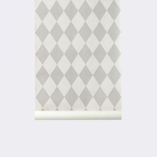Papel de pared Pintado Harlequin Gris Ferm Living