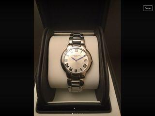 Reloj lujo Raymond Weil tipo Cartier agujas azul