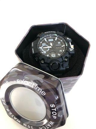 Reloj Exactime Tokdis mecánica Seiko Negro/blanco