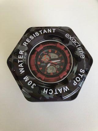 Reloj Exactime Tokdis mecánica Seiko Rojo/negro