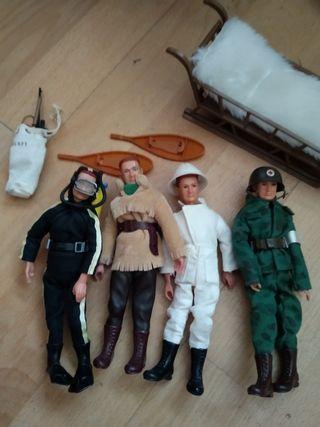 Diferentes muñecos Madelman con accesorios