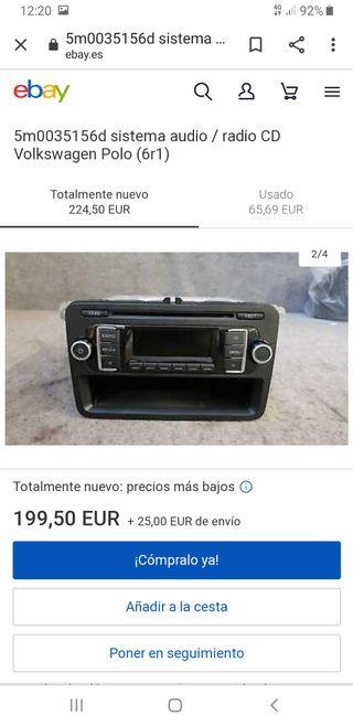 sistema de audio cd volkswagen polo 1.2 tdi
