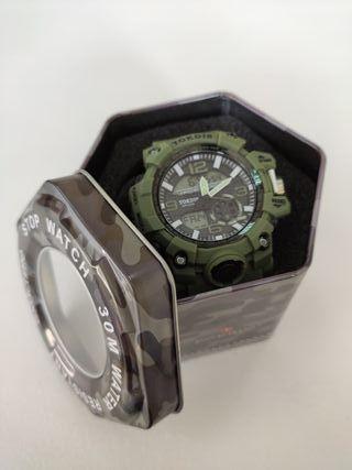 Reloj Exactime Tokdis mecánica Seiko Verde militar
