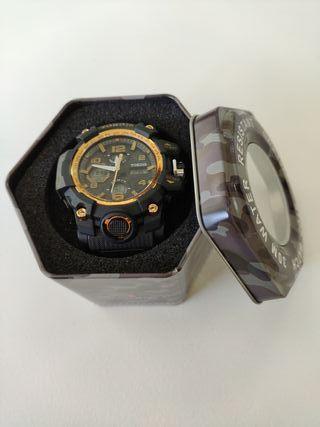 Reloj Exactime Tokdis mecánica Seiko negro/dorado