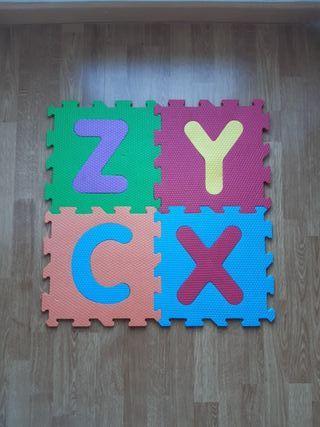Alfombra de juego alfabeto y números