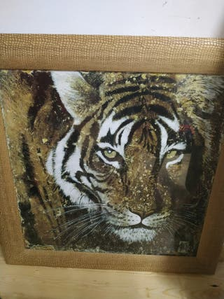 cuadro animal marco africano