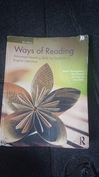 Libro inglés :Ways of Reading (estudios ingleses