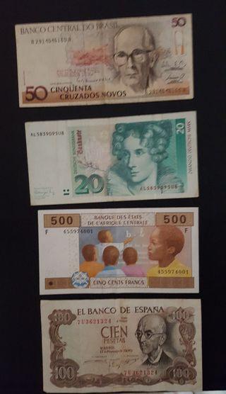 Billetes de varios paises