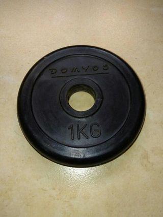 Disco Pesa de 1kg Caucho
