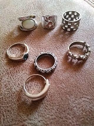 colección anillos T8 x 14€ todos