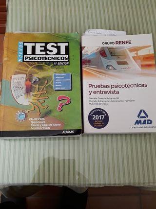 2 libros de psicotécnicos y 4 cajas de psicotécni