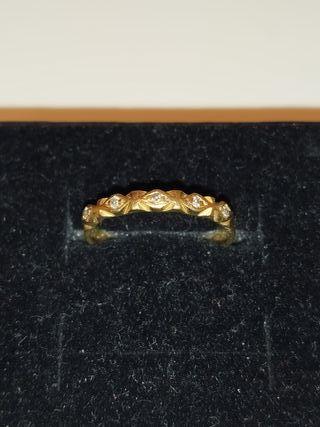 anillo de oro 18 kilates