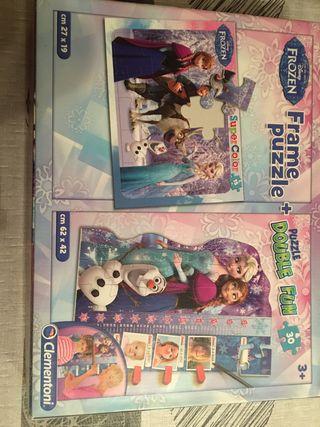Dos puzzles frozen