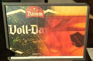 cartel antiguo Voll Damm retro vintage