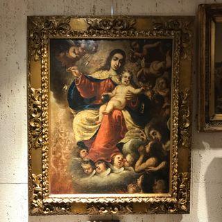 Cuadro Antiguo Siglo XVII. Virgen del Carmen.