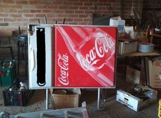 cartel Coca-Cola antiguo - retro vintage