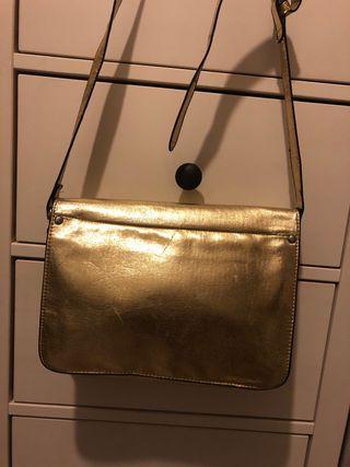 Bolso satchel dorado