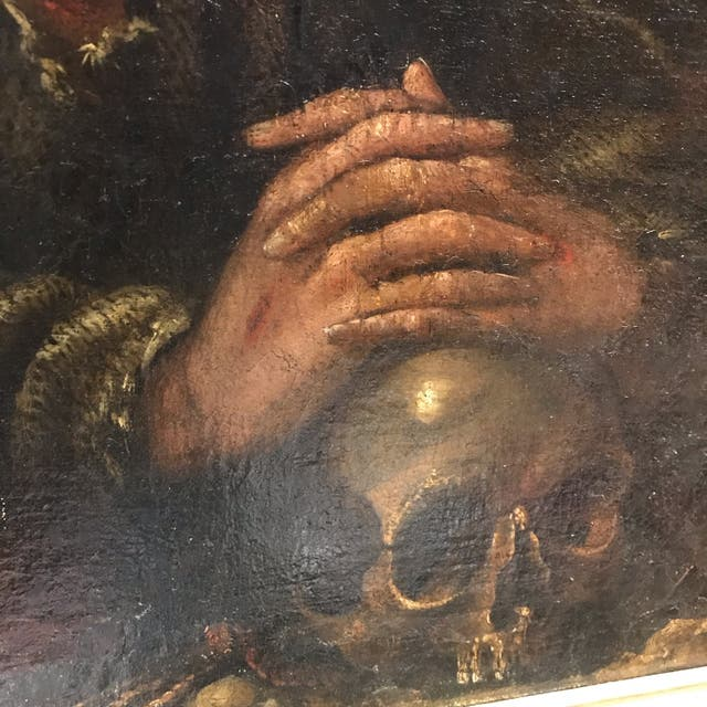 Cuadro antiguo siglo XVII. San Francisco de Asís.
