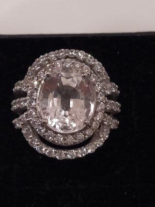 precioso anillo de plata de ley
