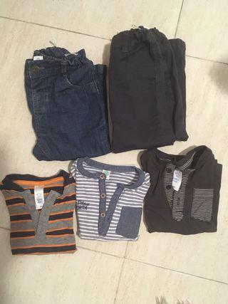 Lote ropa bebe 86 cm (18meses) 7 prendas