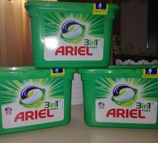 Ariel 3en1 pods (Pack de 3 cajas)