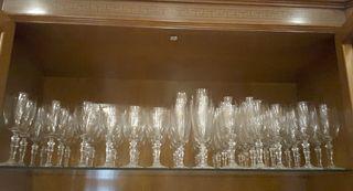 Cristalería cristal bohemia completísima 60 piezas