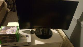 xbox + monitor + games