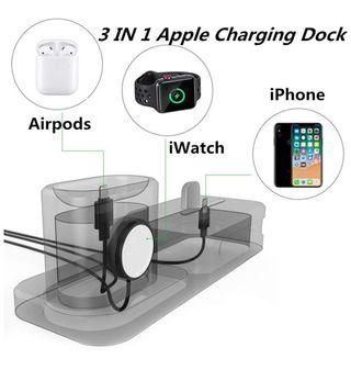 Base de carga IPhone Iwatch AirPods
