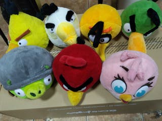 7 peluches Angry birds