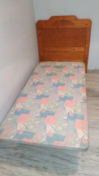 2 Somier tapizado y cabeceros provenzal