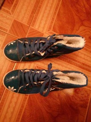 playeras azules de adidas