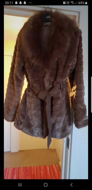 Faux fur women coat jacket sizes UK 8-10
