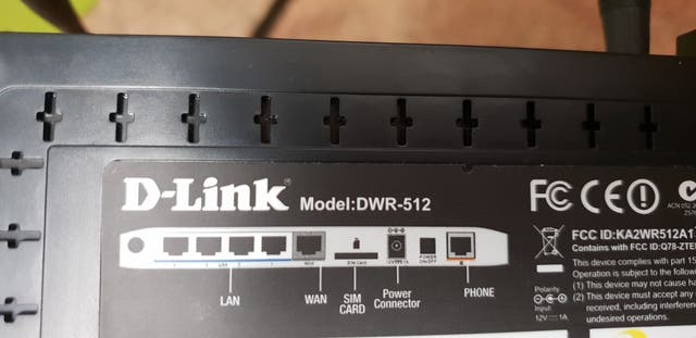 Router D-Link DWR-512, 3G + wifi