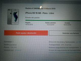 iPhone 6s 16 GB plata