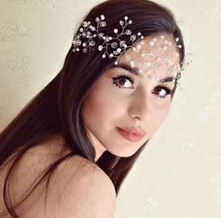Precioso Tocado Joya Artesanal para novia invitada