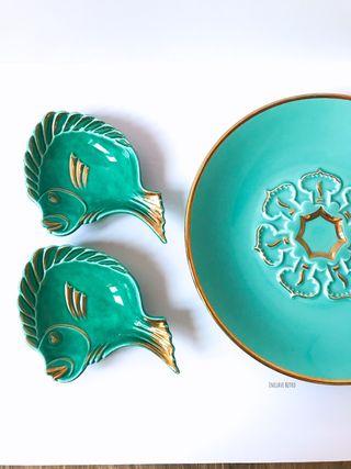Bandejas en forma de pez años 50
