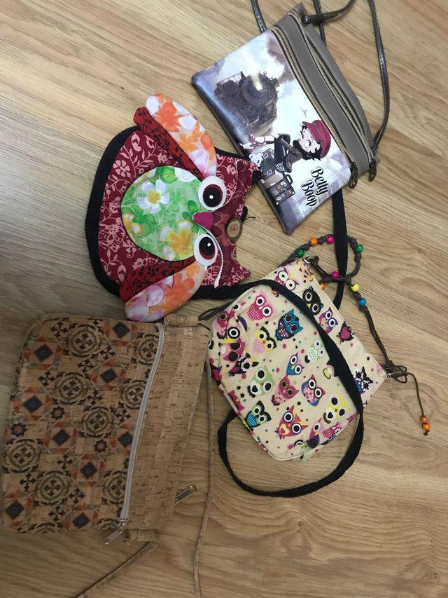 Pack 4 bolsos correa extendible