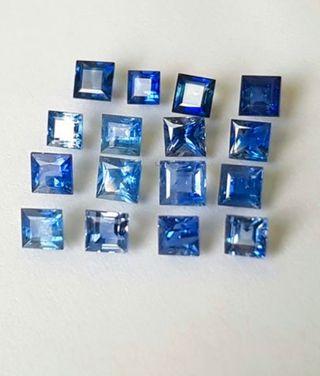 Lote de 14 piezas Zafiros Naturales