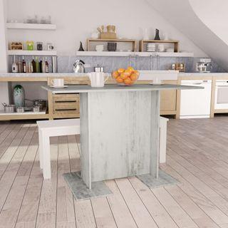 Mesa de comedor 110x60x75 cm gris hormigón